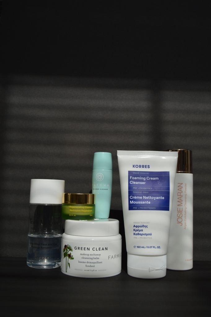 quality skincare products korres cleaners josie maran exfoliator farmacy green clean tatcha tata harper trish mcevoy